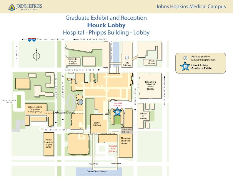 Hopkins Medical Campus Map.2018 Graduate Exhibition Reception Art As Applied To Medicine
