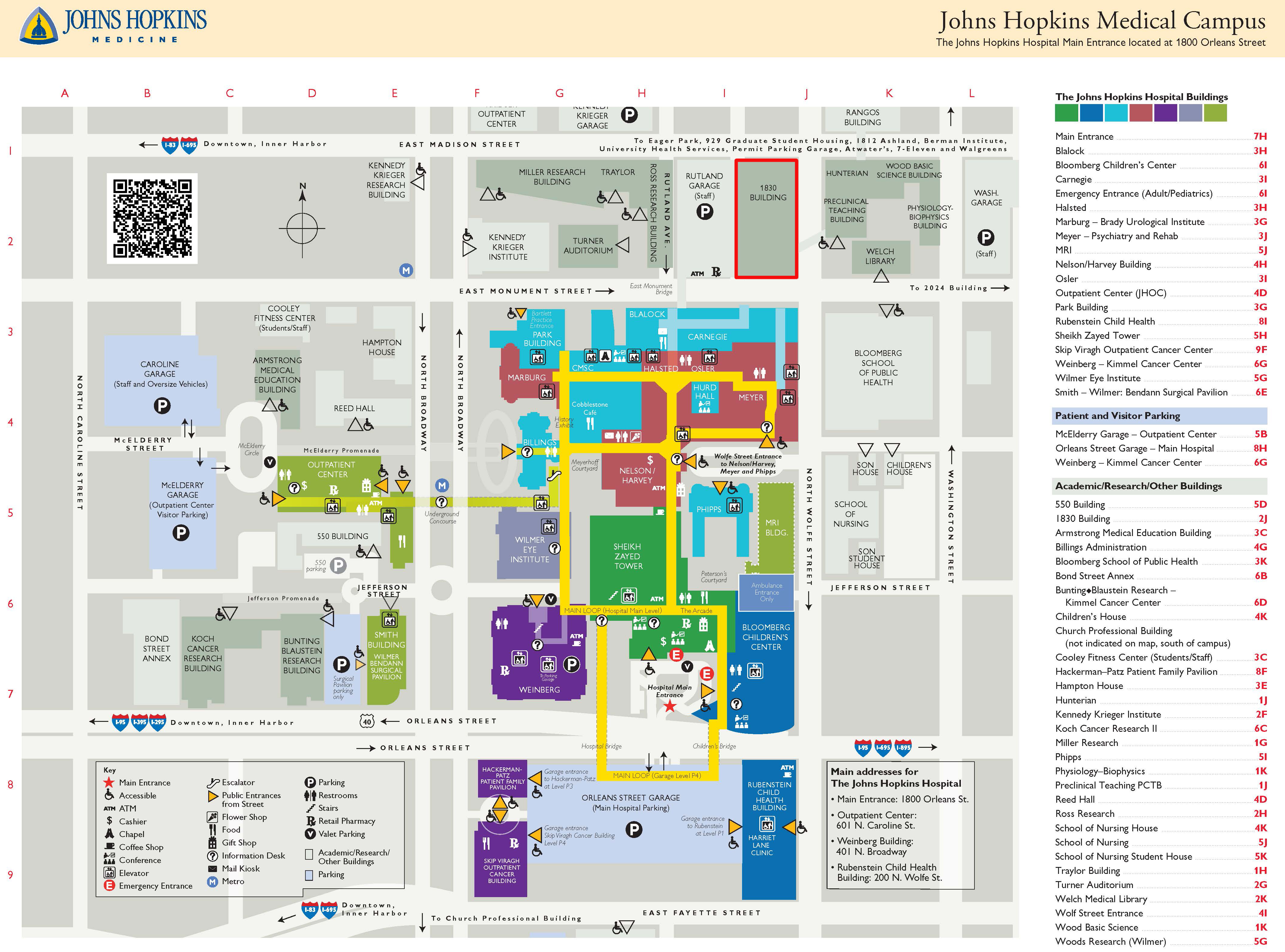 Jhh Campus Map.Resources Facilities Art As Applied To Medicine